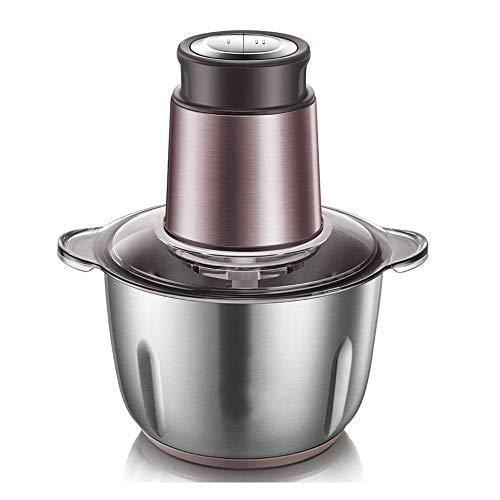 WY-YAN Acero carne GrinderHome automática Pequeño inoxidable multifunción Máquina de picar carne que tuerce la máquina salsa de chile de la máquina de doble fila 2 litros 300 vatios Motor -por (color:
