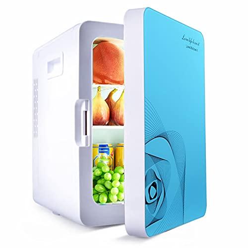 Mini Refrigerador del Coche 20L, Mini Refrigerador Portátil para Bebidas, Refrigerador Doméstico Silencioso para Cuidado de Piel con Calefacción y Refrigeración, Universal DC/AC de Baja Potencia