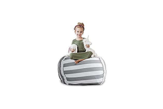 Best bean bags for kids Comfy Creative Qt Stuffed Animal Storage Bean Bag Chair Extra Large Stuff n Sit Organization For Kids Toy Storage Available In Variety Of Sizes And Colors Swagatamco Best Bean Chairs For Kids Amazoncom
