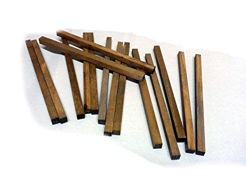 Holzbalken 20 cm, 2-fach coloriert, 15 Stck, Krippenbau