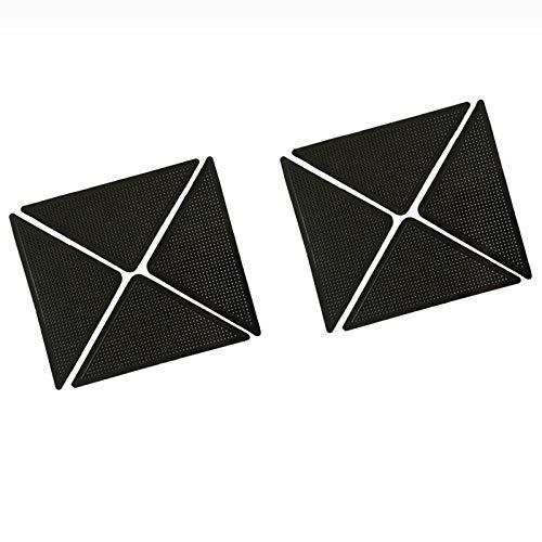 yiju 8 Stücke Wiederverwendbare Waschbar Teppich Carpet Matte rutschfeste Aufkleber Silikon Grip Für Zuhause Bad Wohnzimmer rutschfeste Teppich Aufkleber Pad-8 Stücke