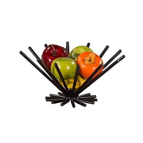 Lanna Panier de Fruits décoratif Plat à Fruits Panier avec Un Design Unique, Robuste et Anti-Rouille, décor idéal pour Club Bar Coffee House