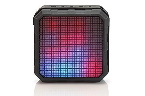 ednet Spectro II LED Bluetooth-Lautsprecher mit App-Steuerung (IOS & Android), 4W RMS, Outdoor (IPX4), LED-Lichtshow, AUX, Freisprechfunktion
