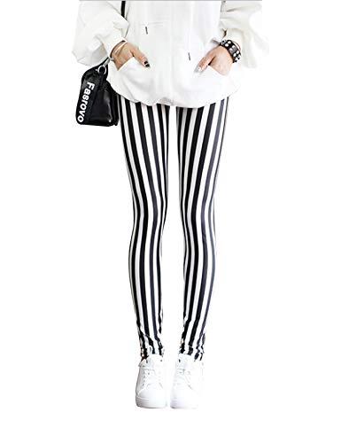 Jueshanzj - Leggings Camuflaje Estampados Mujer Rayas