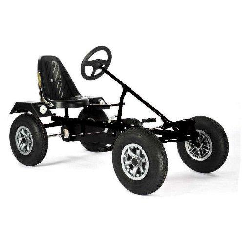 Dinocars Sport ZF schwarz - Gokart Tretfahrzeug für Groß und Klein