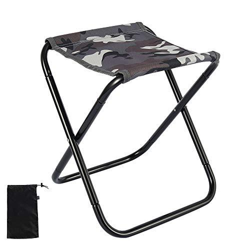78Henstridge Klapphocker Faltbar Camping Hocker Tragbarer hoch belastbarer Outdoor Strandstuhl Stuhl für Rucksackreisen, Wandern, Camping (Tarnung)