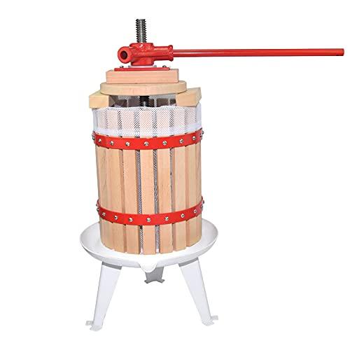 LHONG Prensa Manual de Vino de Frutas con 4 Bloques Nature Oak,...