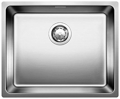 BLANCOANDANO 500-U, évier encastrable en inox satiné, pour des meubles sous évier...
