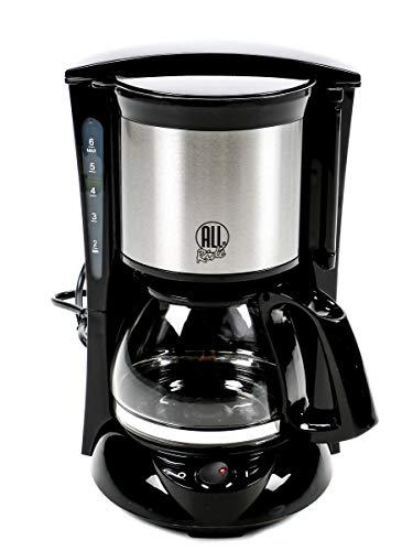 All Ride! 24V Kaffeemaschine LKW 300 Watt Glaskanne für 6 Tassen Warmhaltefunktion Schwenkfilter Dauerfilter mit Griff Messlöffel Überhitzungsschutz Antitropfventil