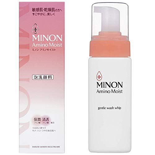 Minon Amino Moist Gentle Wash Whip - 150ml (Green Tea Set)