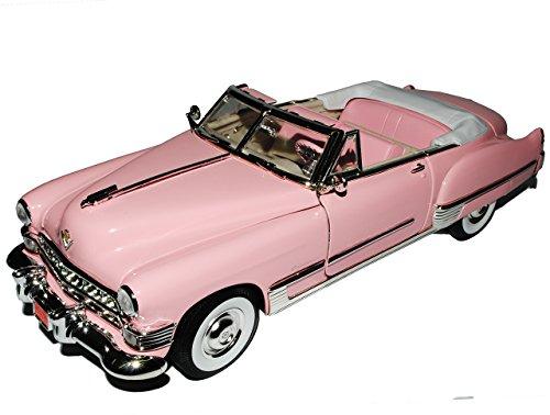Cadilac Coupe DeVille Cabrio Pink 1949 1/18 Yatming Lucky Die Cast Modell Auto mit individiuellem Wunschkennzeichen