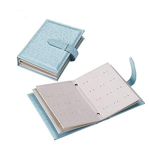 BEI&YANG Schöne Notebook Tagebuch Design Ohrring Ohrstecker Display Halter, Organizer Leder Aufbewahrungsbox Frauen Geschenkbox Für Schmuck@Blau