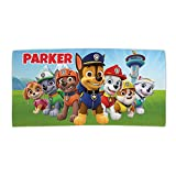 Paw Patrol Ready for Action Personalized Plush Velour Multicolor Towel with Custom Name Printed on Absorbent Terry Loop Cloth - Great for Camp Pool Beach Lake or Bath, 28' x 56'