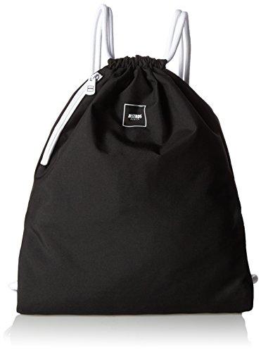 MSTRDS Unisex Basic Gym Bag rugzak zwart One effen gymtas in hipster-stijl