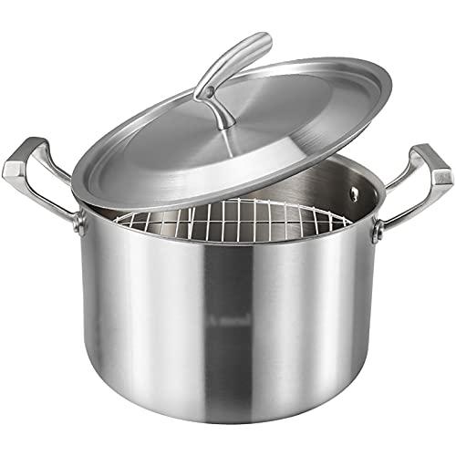 Olla de vapor/pote/freidora de acero inoxidable hogar engrosada gachas de cocina cocina cocina de gas pote especial
