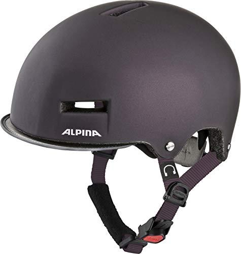 Alpina Unisex- Erwachsene Grunerlokka Fahrradhelm lila 52-57 cm