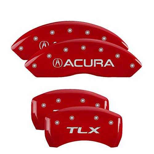MGP Caliper Covers 39018STLXRD Red Brake Covers Fits 2015-2020 Acura TLX Engraved with Acura/TLX (Front/Rear Covers; Set of 4)
