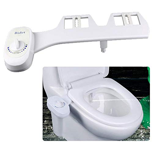 ANJING Home Bidet, Self Cleaning Toilet Seat Attachment Sprayer, Retractable Nozzle Fresh Water Best Used for Personal Hygiene, Save Toilet Paper,Single Nozzle