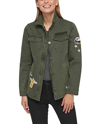 Levi's - Chaqueta de camisa con dos bolsillos - Verde - Large