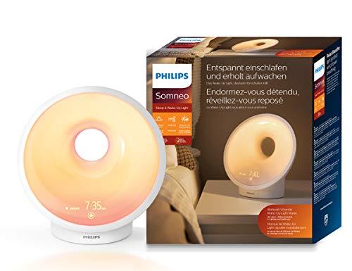 Philips Sleep & Wake-up Light, Einschlafhilfe, Natürlich aufwachen, Sonnenauf und untergangssimulation, Nachtlicht, Entspannungsübung, HF3650/01
