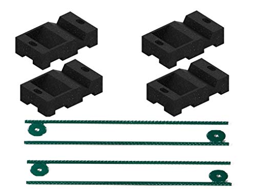Swing Set Anchor Leveling Kit :: Includes 4 Small Molded Rubber Blocks with Stakes and Hardware for Installation