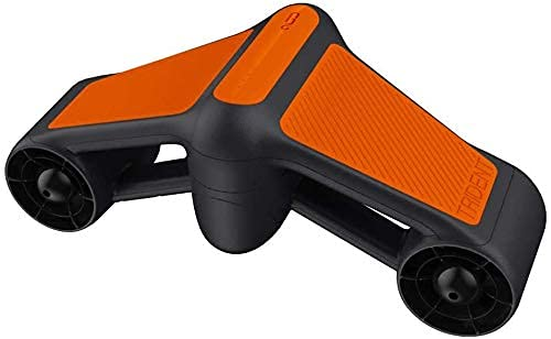 Scooter submarino de doble hélices para natación o buceo, con soporte para cámara, scooter mar. (blanco, naranja) BJY969