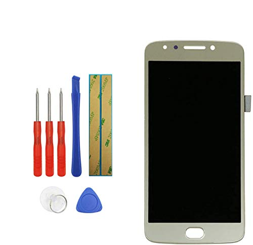 E-YIIVIIL Replacement LCD Display Compatible with Motorola Moto E4 E 4 Gen XT1767 XT1768 Digitizer Touch Screen Assembly with Toolkit (Gold)