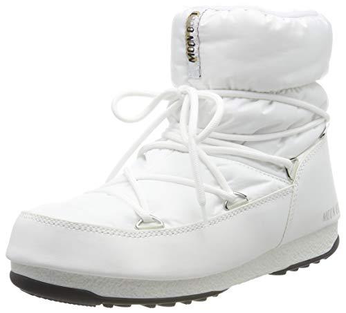 Moon-boot Low Nylon Wp2, Stivali da Neve Unisex Adulto, Bianco (Bianco 002), 37 EU