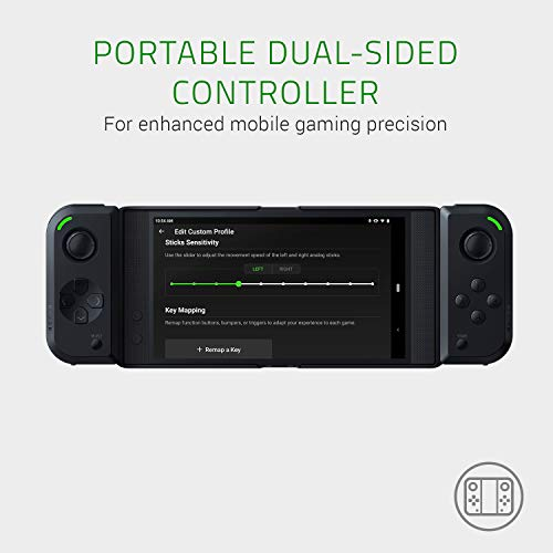 Razer Junglecat: Mobiler doppelseitiger Gaming-Controller für Android (Modulares Design, Mobile Gamepad App, Bluetooth mit niedrigen Latenzen) für Razer Phone 2,Huawei P30 Pro und Samsung Galaxy S10+ - 2