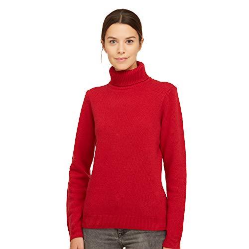 Brunella Gori Maglione Pullover Dolcevita Donna in 100% Lana Vergine Color Rosso Taglia S