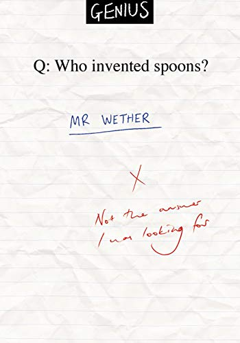 Humorous Funny Blank Greeting Card - Who Invented Spoons ? Mr Wether (Wetherspoons) Genius Range by Ian Blake (WDM-463877) Suitable for Birthdays or Any Occasion