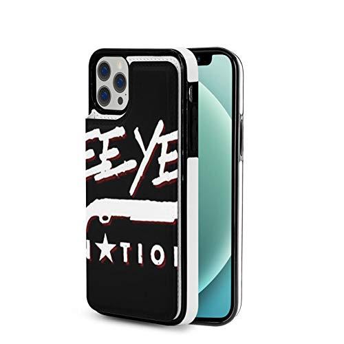 KAIXIN Yee Yee Yee - Funda para iPhone 12 (piel sintética, cierre magnético), color negro