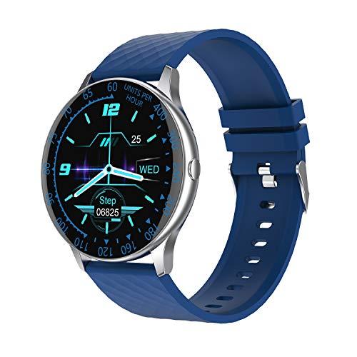 lalakabu Pulsera inteligente IP86 resistente al agua, podómetro, frecuencia cardíaca y presión arterial, levanta tu mano y pantalla brillante.