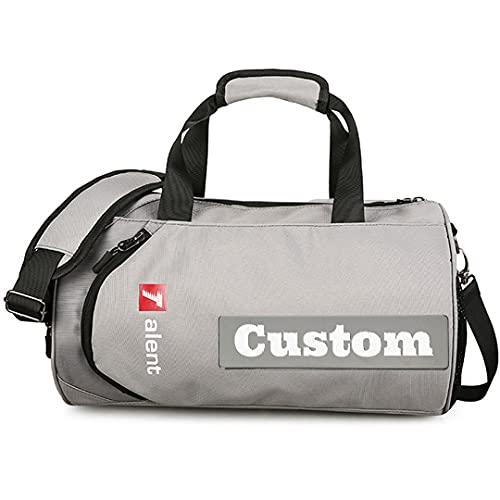 Personalizzato Nome Uomini Duffle Viaggio Grande Palestra Borsa Duffel Bag Uomini Scarpa Scomparto Palestra Wet Pocket, Hui-xiao, Taglia unica,