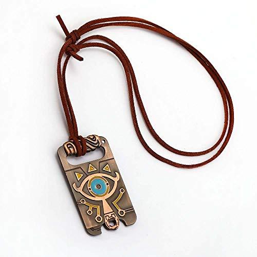 Legend of Zelda Halskette Eye Breath of The Wild Metall Seil Kette Anhänger Männer Frauen Halsketten Schmuck Zubehör