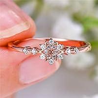 女性の花スノーフラワーリング925シルバーの結婚式のベルトリングは愛の女性を約束します