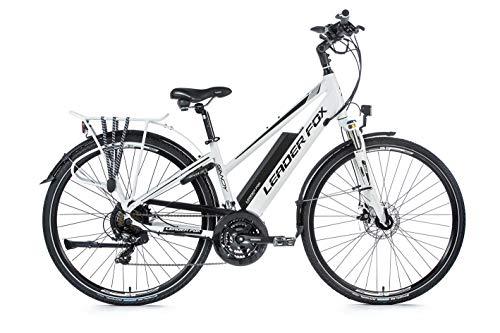 28 Zoll Alu Leader Fox Sandy Lady Pedelec Trekking Elektro Fahrrad E-Bike RH 42cm Weiss