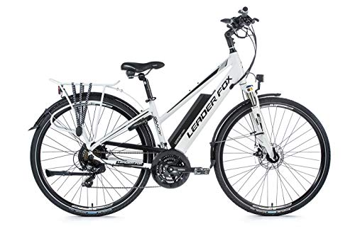 28 Zoll E-Bike Leader Fox Damen Elektro Fahrrad Pedelec 21 Gang Akku USB 46cm hoch