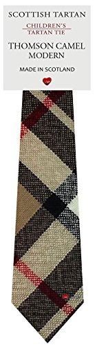 I Luv Ltd Garçon Tout Cravate en Laine Tissé et Fabriqué en Ecosse à Thomson Camel Modern Tartan