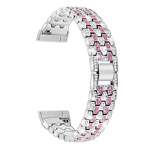 LvSenLin Cinta De Diamante para Mujer De Lujo para Mujer para Reloj Bling Bring Pulsera Metal Ajustable Correa De Acero Inoxidable para Mujer Hombre