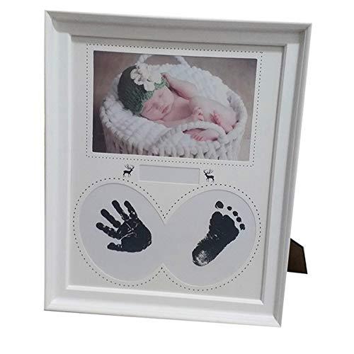 Adanse Marco de Fotos para BebéS ReciéN Nacido Pared para Fotos Huella de Manos Huella Marco de Almohadilla de Tinta Ni?O Regalo de Cumplea?Os Cuadros DecoracióN de la HabitacióN