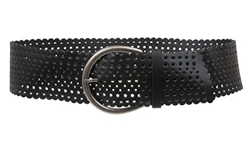 "3"" (75mm) Wide Contour Perforated belt Size: S/M 30~33 Color: Black"