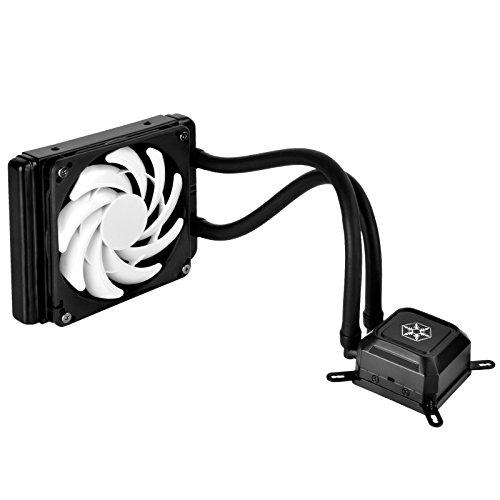 SilverStone Tek Slim 120mm AIO Liquid CPU Cooler with Intel/AMD Including AM4 Support TD03-SLIM-V2