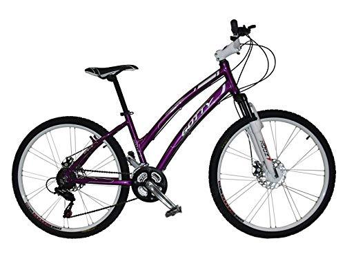 """Gotty Bicicleta de montaña MTB Mujer CRS, Aluminio 26"""", con suspensión Zoom Gama Alta, Cambio Shimano de 21 velocidades y Frenos de Disco. (Violeta)"""