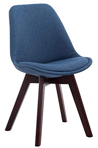 GXK Besucherstuhl Stoffbezug Retro Küchenstuhl Lehnstuhl Konferenzstuhl (Color : Blau, Size : Natura (Eiche))