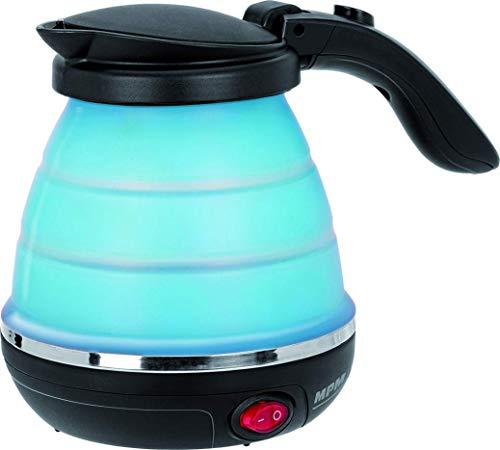 MPM MCZ-73/N Hervidor de Agua Eléctrico de Silicona, 0,5 Litros, 750W, Libre de BPA, Azul
