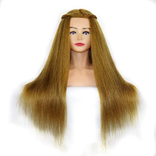 Mannequin tête fibre synthétique cheveux épaule plate-forme formation tête coiffure mannequin tête pratique bricolage Manikin tête