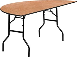 Flash Furniture 72'' Half-Round Wood Folding Banquet Table