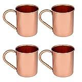 Zap Impex  Reines Kupfer Moscow Mule Tasse, keine Beschichtung, reines Kupfer, ideal für alle gekühlten Getränk blendend zu unterhalten & Bar oder zu Hause, große Bar Geschenk-Set von 4