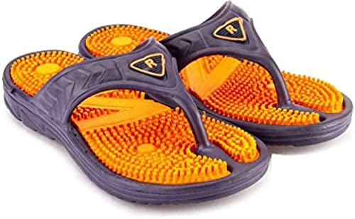 DzVR Acupressure ACU Health Care Comfortable Multi Color Flip Flops Slipper for Men